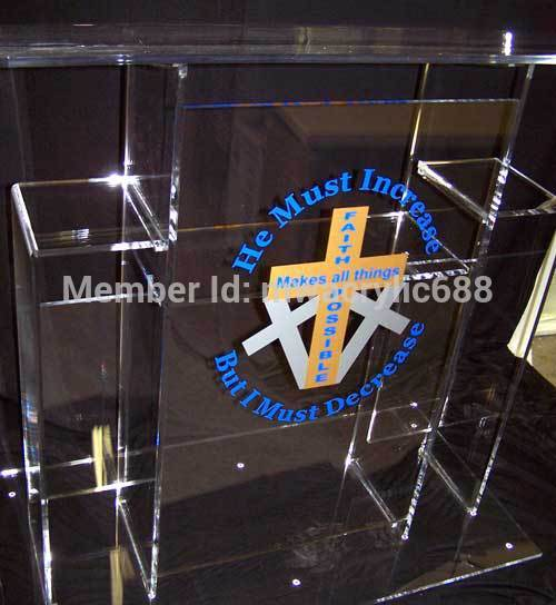 Free Shipping High Quality Price Reasonable Cheap Clear Acrylic Podium Pulpit Lecternacrylic Pulpit Plexiglass
