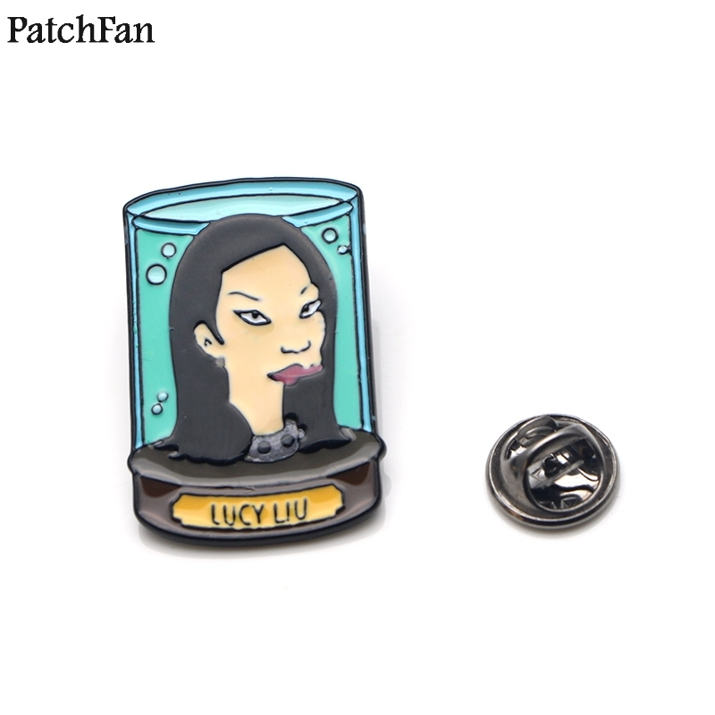 Obedient 20pcs/lot Patchfan Futurama Zinc Tie Cartoon Funny Pins Backpack Clothes Brooches For Men Women Hat Decoration Badge Medal A1523 Apparel Sewing & Fabric