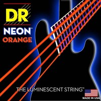 DR K3 Hi def Neon Orange Luminescent Bass Guitar Strings, Light 40 100 or Medium 45 105 or 5 strings 45 125