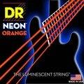 Dr k3 hi-def neon laranja luminescente baixo cordas de guitarra, luz 40-100 ou médio 45-105 ou 5 cordas 45-125