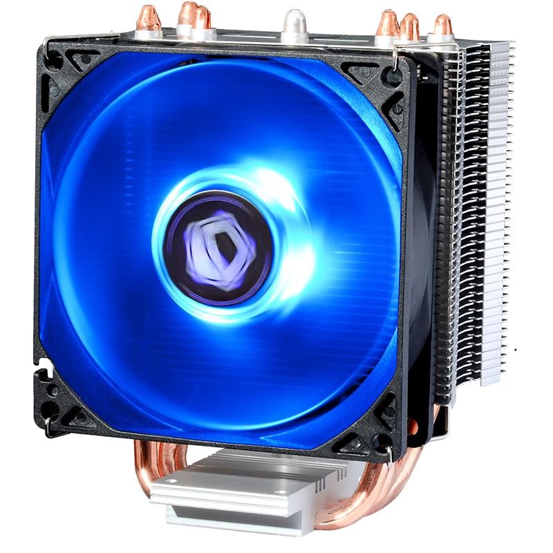 Prix pour 4pin PWM ventilateur, bleu LED, TDP 130 W de refroidissement pour Intel LGA1151 1150 1155 1156, CPU cooler ventilateur radiateur, ID-De Refroidissement SE-913X