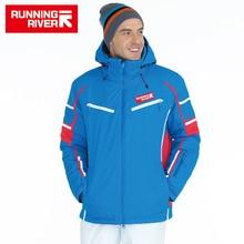 RÍO QUE CORRE de Marca de Alta Calidad de Esquí Chaqueta Para Los Hombres 4 Colores 6 Tamaños de Invierno Hombre Chaquetas Deportivas Al Aire Libre Ropa de Esquí Caliente # A5026