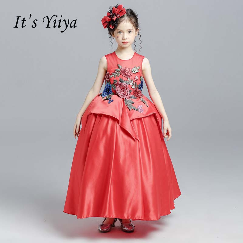Buy embroidery flower pattern girl children dress and get free shipping on  AliExpress.com a3885c018d89