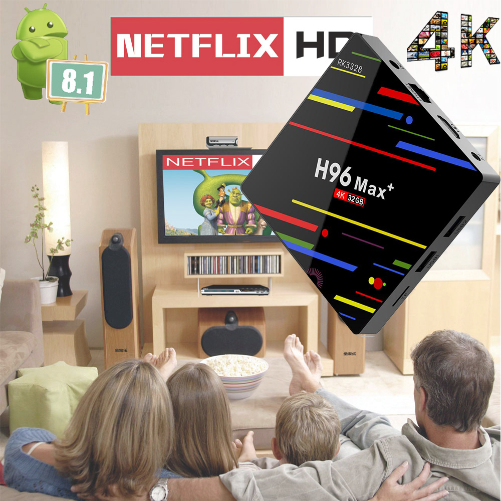 H96 MAX Android 8 1 TV BOX 2018 H96 MAX PLUS RK3328 Quad Core 4GB DDR3