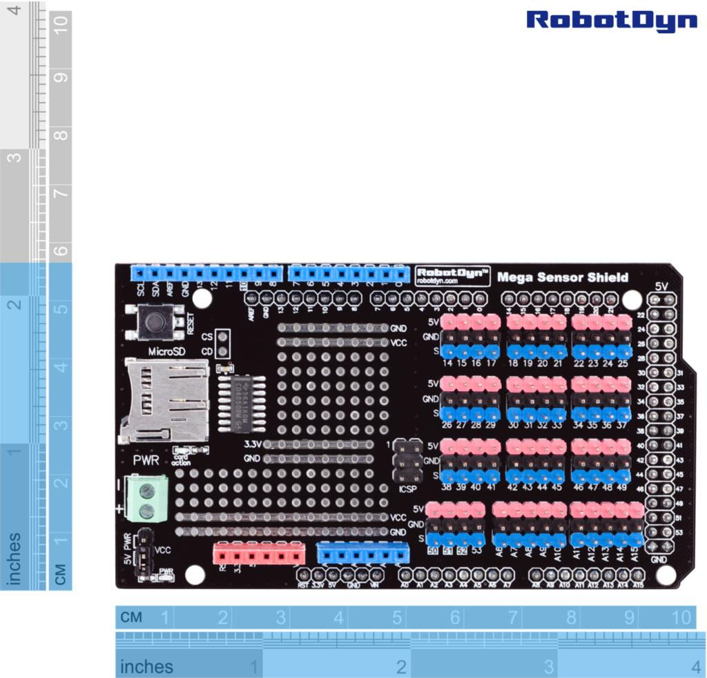 Arduino Mega Shield Hobbyistconz Buy Sensor For With 1024x983