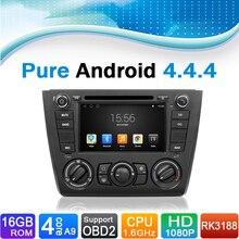 Android 4.4.4 System Auto Radio Car DVD Player GPS Navigation System for BMW 1 Series E81 E82 E87 E88(manual air-conditioner)