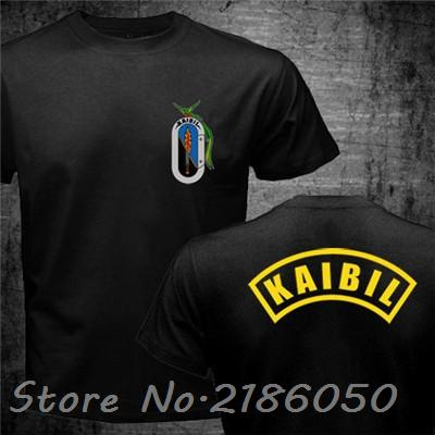 French Foreign Legion Kaibil Kaibiles Guatemalan SBS Alfa Alpha Unit Mexico GAFEs BOPE Army Special Forces Men's Cotton T Shirts