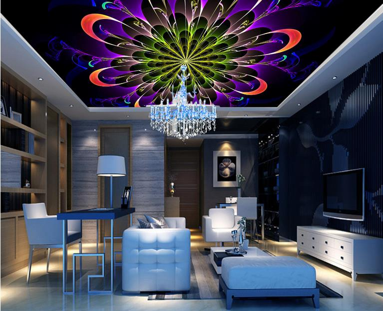 ФОТО custom wallpapers for living room 3 d ceiling Dynamic aperture fashion 3d ceiling photo wall mural luxury 3d ceiling wallpaper