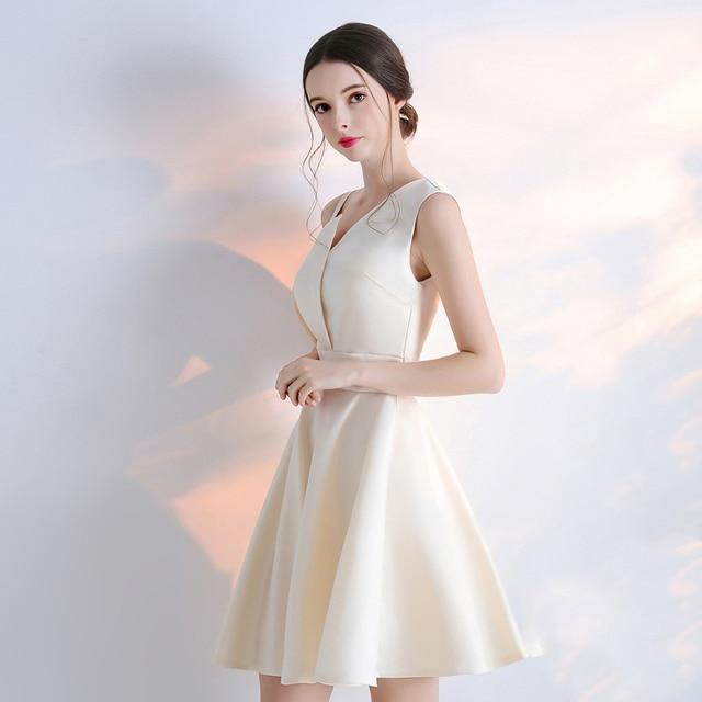 2018 new women dress one shoulder short elegant party dresses ...