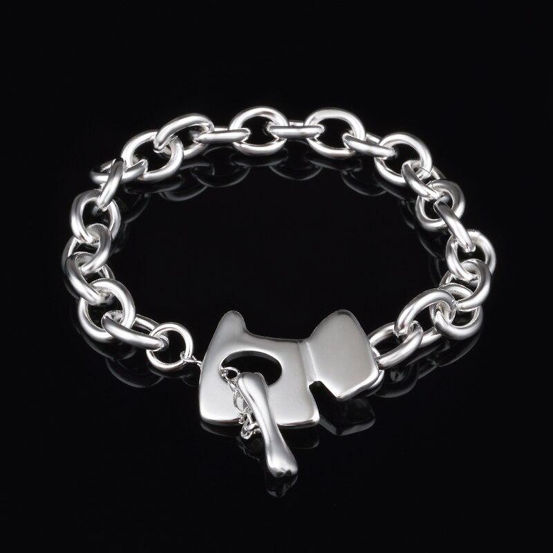 1852d9c86e2f1 New charme jóias pulseiras de Prata Pulseiras   Braceletes mulheres jóias