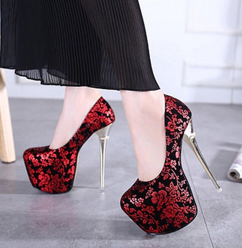 ФОТО Women's Pumps High Heels Platform Shoes Nightclub Sexy Flowers for Women's Single Shoes Elegant Wedding Shoes Spatos Mujer C248