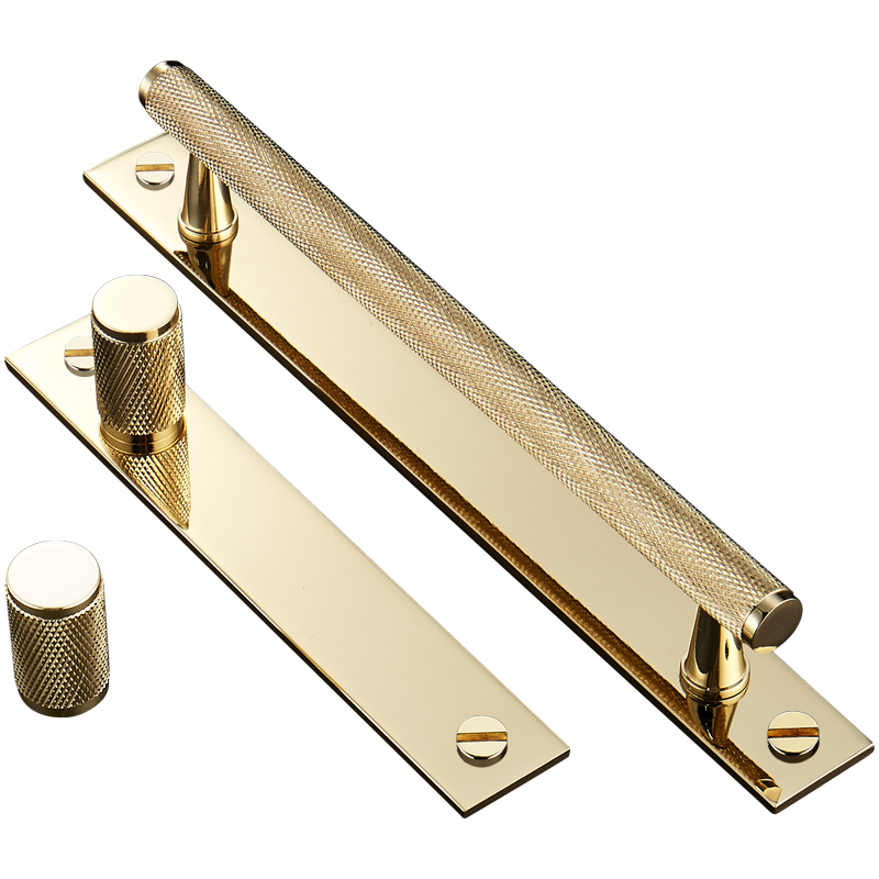 Gold Knurled/Textured modern kitchen cabinet knobs and ...
