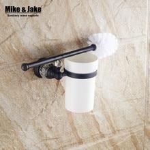 Роскошный Черный кристалл держатель для туалетной щетки с Керамическая чашка ванная комната черный ванна кисти комплект украшения аксессуары для ванной комнаты SY880
