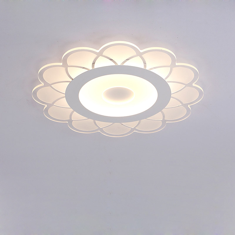 Acrylic Flower Modern Ceiling Light Fixture Living Room Bedroom Kitchen 17W Led Ceiling Lamp White Iron Home Decor Lighting 220V acrylic led ceiling light with remote control fixtures modern living room bedroom kitchen lamp decor home lighting dimming 220v