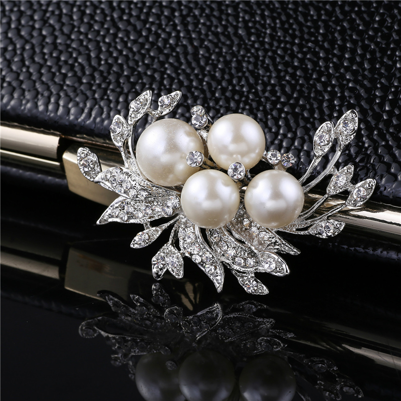 West Coast Jewelry Sterling Silver Freshwater Pearl and Cubic Zirconia Pin