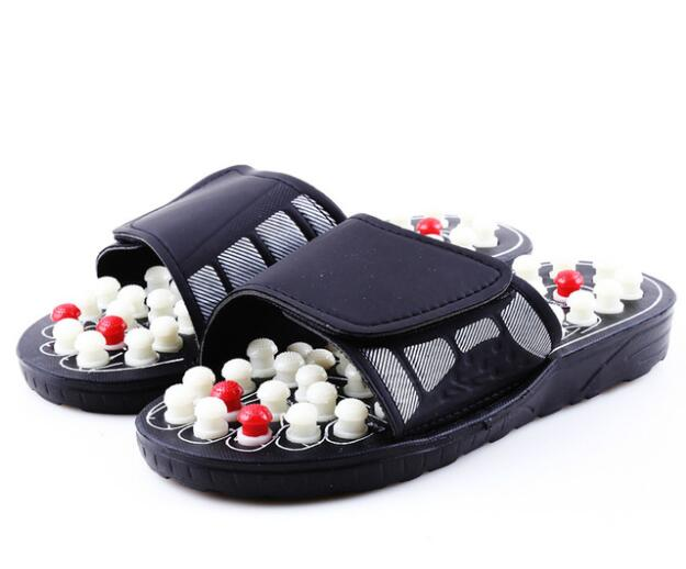 2019 New Acupoint Massage Slippers Sandal For Men Feet Chinese Acupressure Therapy Medical Rotating Foot Massager Shoes Unisex