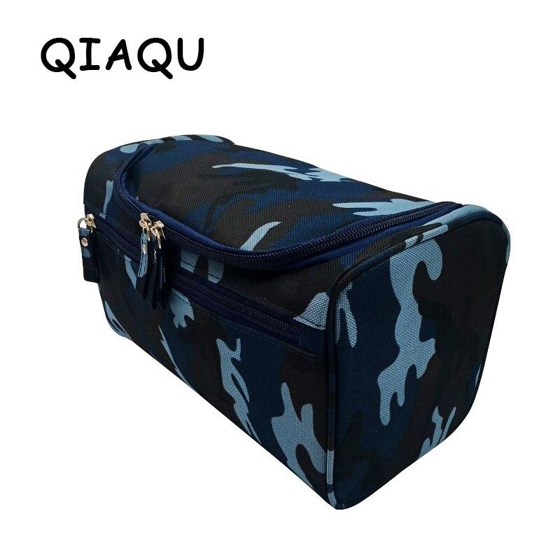 Qi bolsa de aseo colgante de hombre de nailon organizador de viaje bolsa de cosméticos para mujeres grandes necesaries maquillaje bolsa de maquillaje