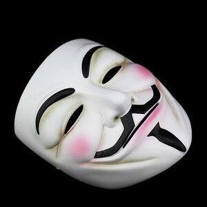 Image 5 - Высококачественная v образная маска Vendetta, полимерная маска для домашнего декора, вечерние линзы для косплея, маска для мужчин