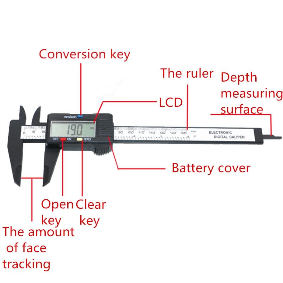 medium resolution of 150mm 6inch lcd digital electronic vernier caliper gauge micrometer diagram of digital vernier caliper