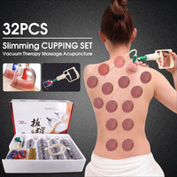 32pcs Opener Pull Vacuum Cupping Massage Medical Chinese Body Suction Massage Relaxing Cans Health Monitors Bank Tank Set