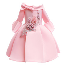 2019 Children Girls Dresses Embroidery Clothing Wedding Evening Flower Girl Princess Dress Party Pageant Gown Kid Girls Clothes berngi flower girls dress princess wedding pageant diamond sequined gown lace party dresses layers flower girl clothes size 3 14