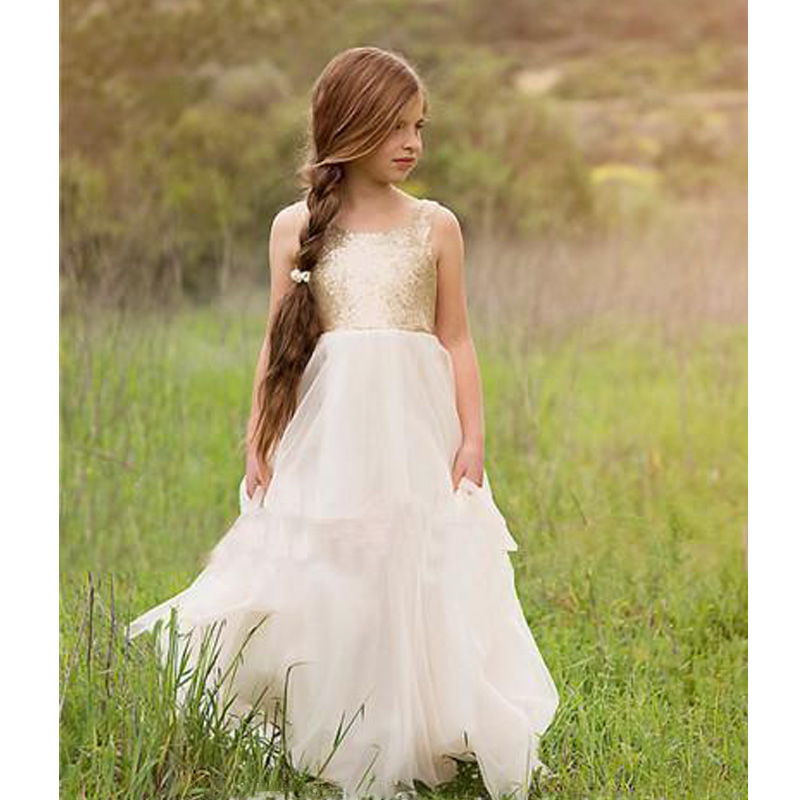 Flower Girl Dresses For Garden Weddings: 2017 New Lovely Girls' Beauty Flower Girls' Dresses For
