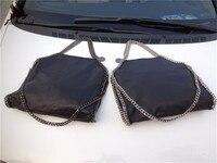 100 Genuine Leather Sheepskin Women Big Chain Shopping Tote Bag Quality Shaggy Deer New 3 Chain