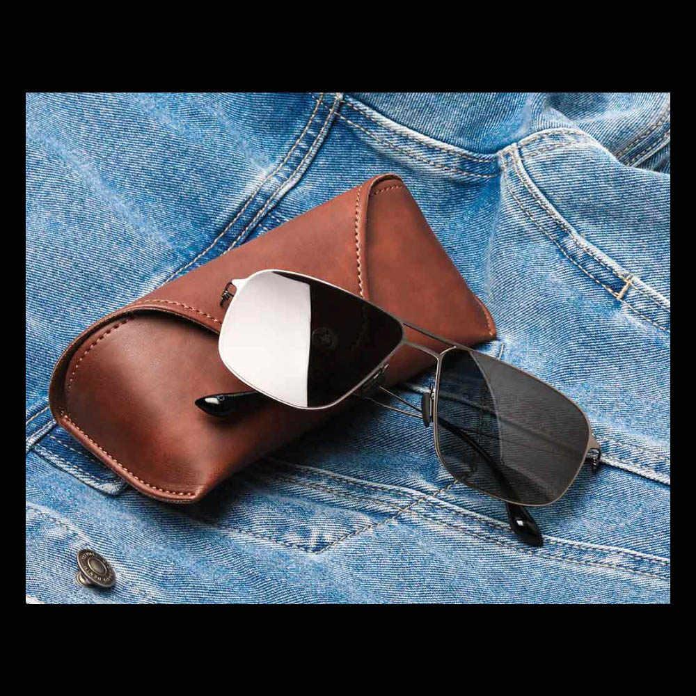 Xiaomi Mijia Classic Square Sunglasses Pro TAC Polarized Lenses Glasses Retro Light Frame Screwless UV Protection for Men Women