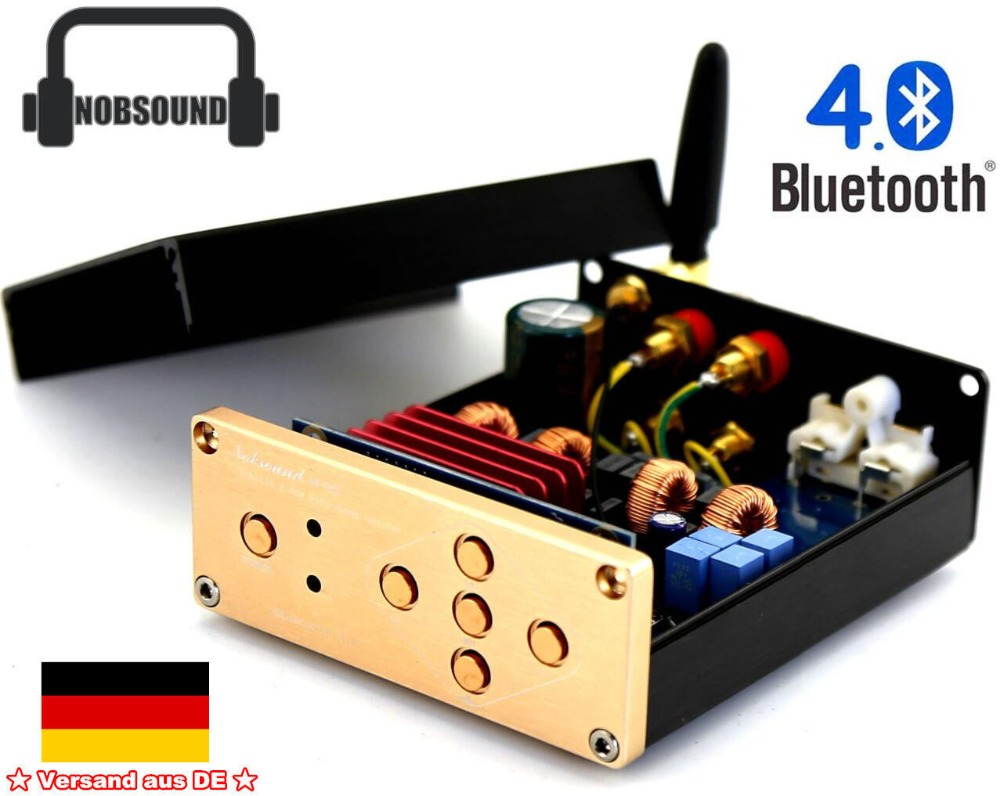 Nobsound Bluetooth 4.0 TPA3116 Digital Amplifier HiFi Desktop Stereo Integrated Amplifier 100W With EU Power Suppy