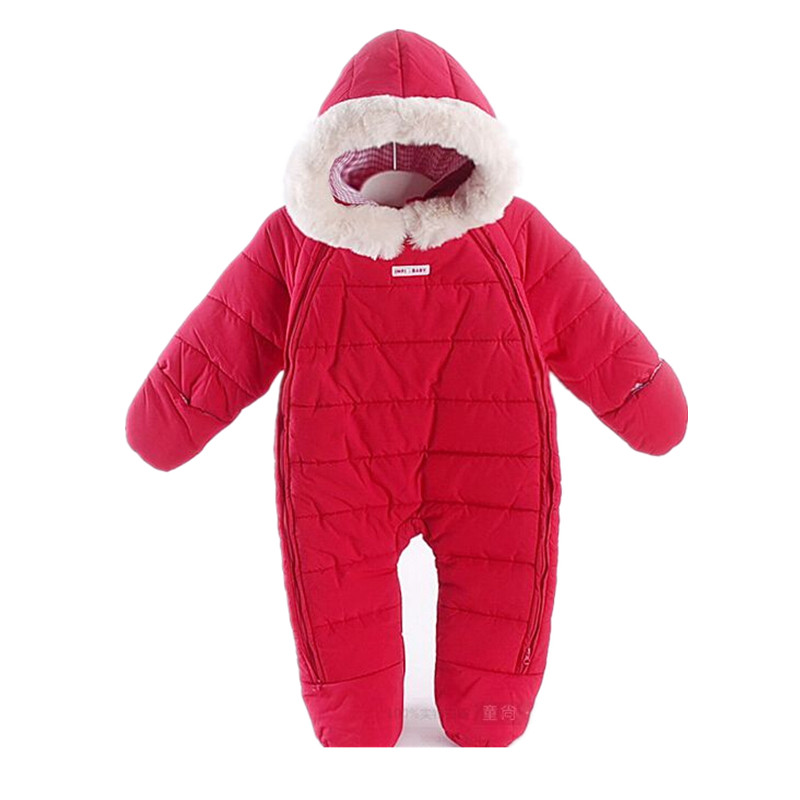 Russian Winter Baby Warm Snowsuit Newborn Jumpsuit Snow Wear Cotton Thick Rompers Kids Outerwear Clothes Infant Costume