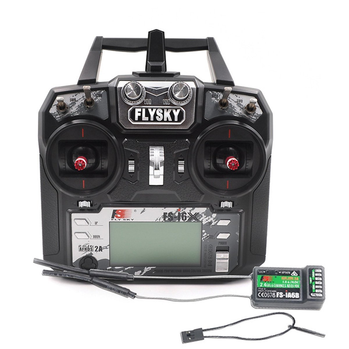 Flysky FS-i6X FS I6X 2.4G RC Transmitter Remote Controller 10/6CH iA10B or iA6B Receiver i6 upgrade For RC Multi-rotor drone