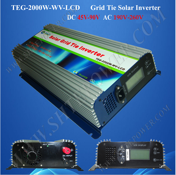 mppt dc 45-90v to ac 220v 230v 240v solar grid-tie inverter 2000w 220v 230v 240v output solar power inverter on grid tie dc 45 90v input with mppt function 2000w