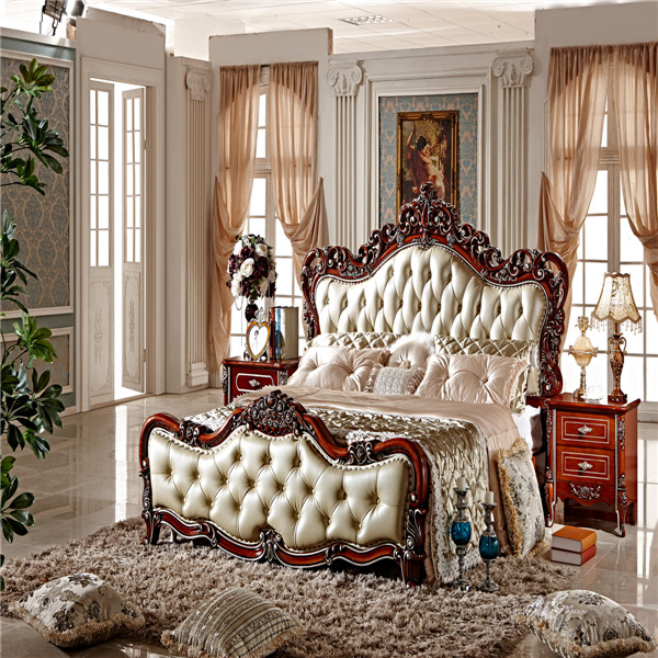 2015 King Size Luxury European Bed/bedroom Furniture/bedroom Set MS107