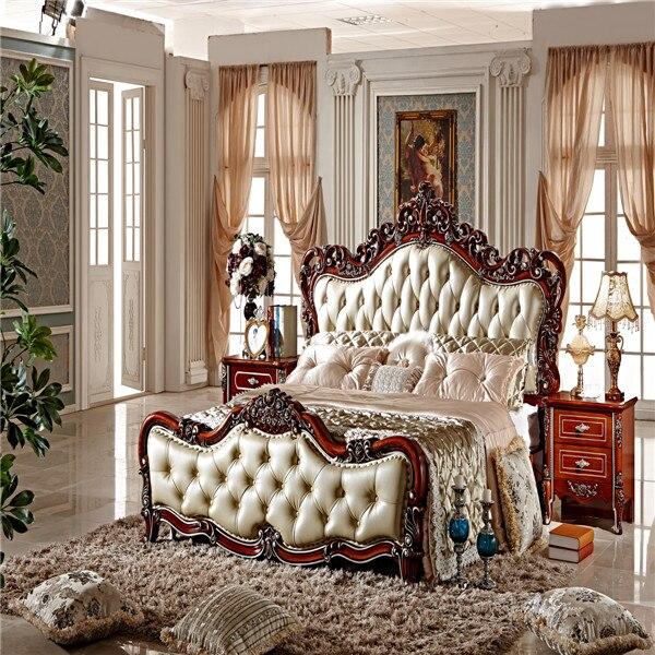 2015 King Size Luxury European Bed Bedroom Furniture Bedroom Set Ms107