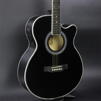 40 47 Гитары s черный Цвет 40 дюймов электроакустическая Гитары липа древесины Гитары пикап тюнер строки
