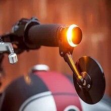 1x светодиодный фонарь на руль мотоцикла, сигнальный светильник, желтый, универсальный, 22 мм, индикатор, мигалка, ручка, мигалка, боковой габаритный фонарь