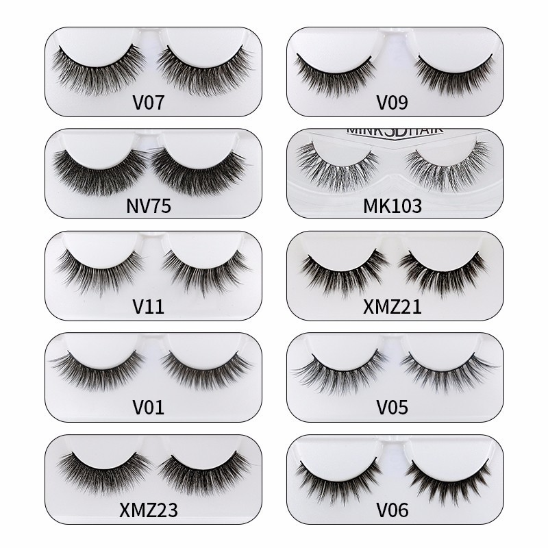 Misslamode False 3d Mink Eyelash Extensions Fake False Eyelashes Natural Hair False Eyelashes Natural Long Eyelash Makeup