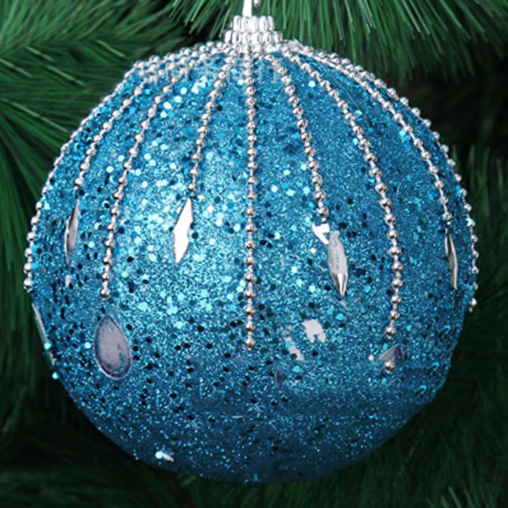 1Pcs Christmas 8CM Romantic meteor shower shape Rhinestone Glitter Balls Party Xmas Tree Plant Berries toy b#1107 dropship