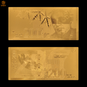 Israel 24k Gold Plated 200 New Shekel Gold Banknote Money Paper Collection And Holiday Gifts