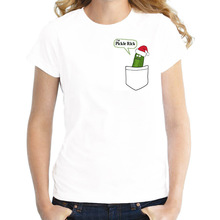 pickle rick t-shirt female christmas party gift shirt rick and morty t shirt funny rick morty kawaii Printed tee shirts women