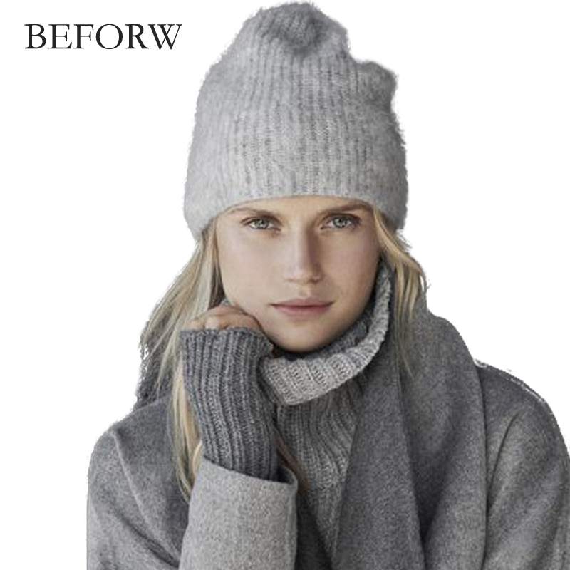 BEFORW 2017 Winter Hat For Women Warm Hat Fashion Knitting Warm Cap  Wool Knitted Winter Hats For Women Autumn Cotton Female Hat 2017 new fashion autumn and winter wool leaves hollow out knitting hat thick female cap hats for girls women s hats female cap