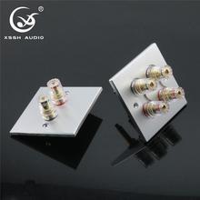 1 set XSSH Audio Hi End Gold Plated Amplifier Speaker Terminal Female Long Short Version Including Binding Post and Plate Socket