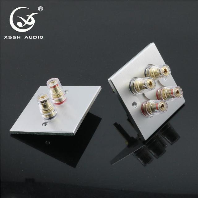 1 set XSSH Audio Hi End Gold Plated Amplifier Speaker Terminal Female Long Short Version Including Binding Post and Plate Socket