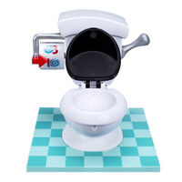 TOILET TROUBLE Toilet Spraying Water Spoof Game Funny Mini Prank Squirt Spray Water Toilet Spoof Gadgets