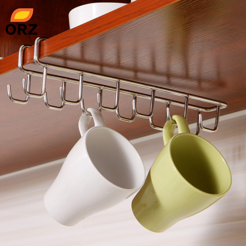 Edelstahl Küche Lagerung Rack Schrank Hängen Haken Regal Gericht Aufhänger Brust Lagerung regal Bad Veranstalter Halter