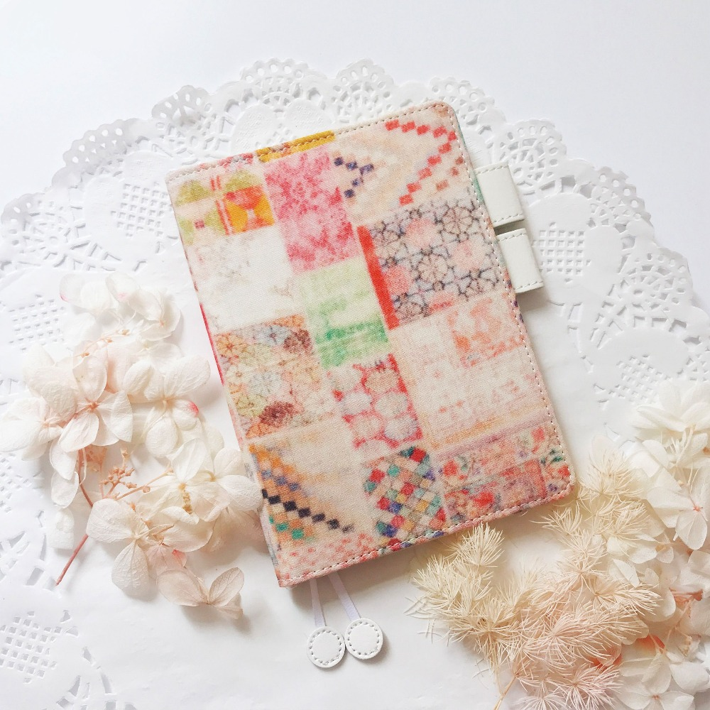 A Colorful Wonderland Journal Cover Hobonichi Style Fitted Diary Cover 1 Piece Suit For Standard A6 Fitted Paper Book the mystery universe design fitted journal cover hobonichi style cover a5 a6 suit for standard a5 a6 paper book