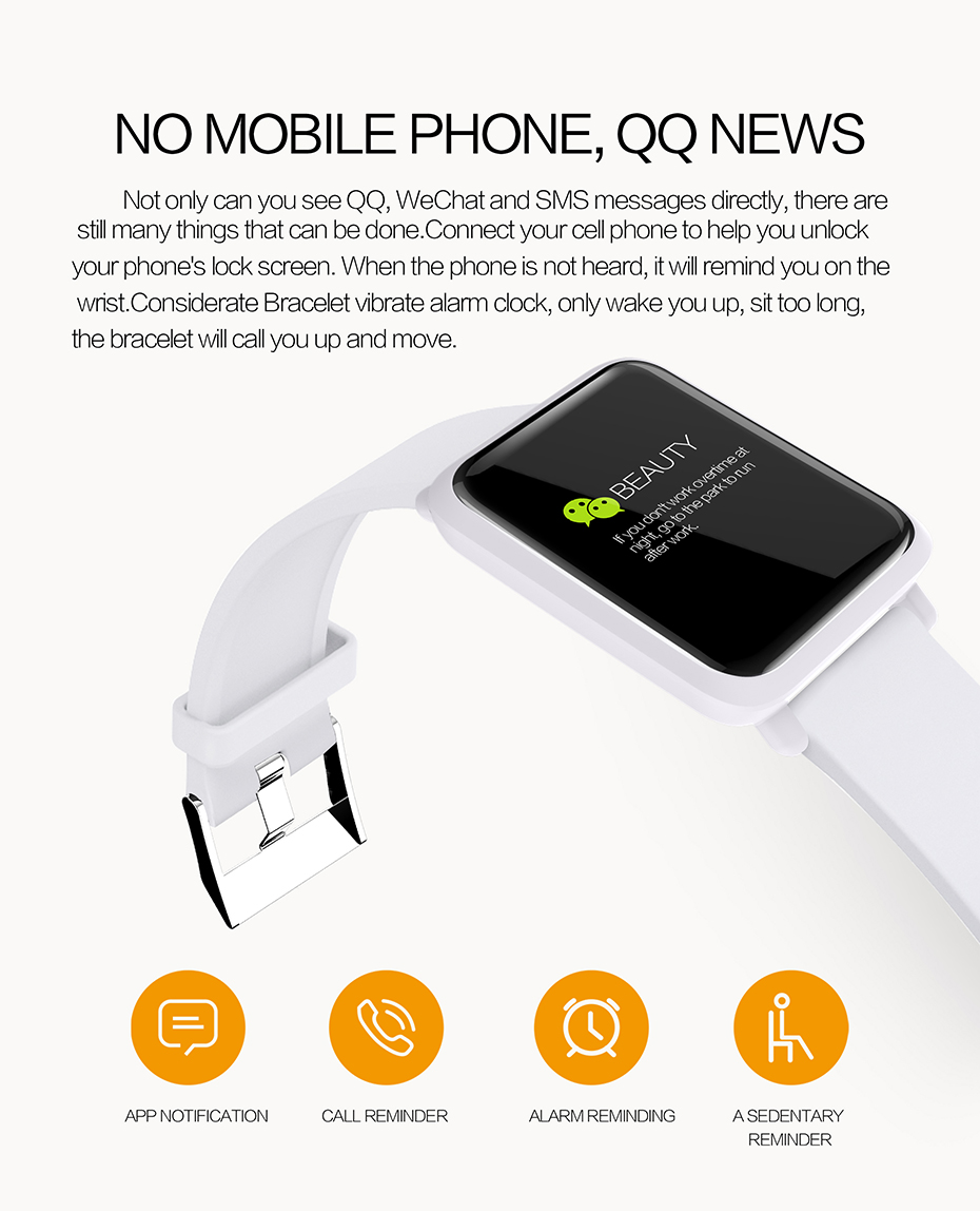 COLMI Smart Watch M28 IP68 Waterproof Bluetooth Heart Rate Blood Pressure Smartwatch for Xiao mi Android IOS Phone 4