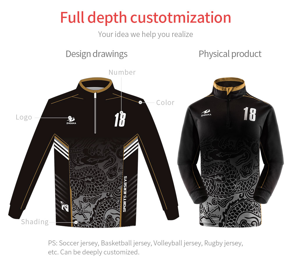Professional Design Your Own Performance Long Sleeve Tournament