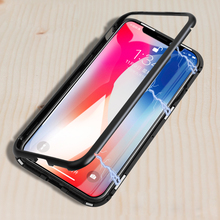 Luxury Magnetic Adsorption Case For Apple iPhone X Bumper Me