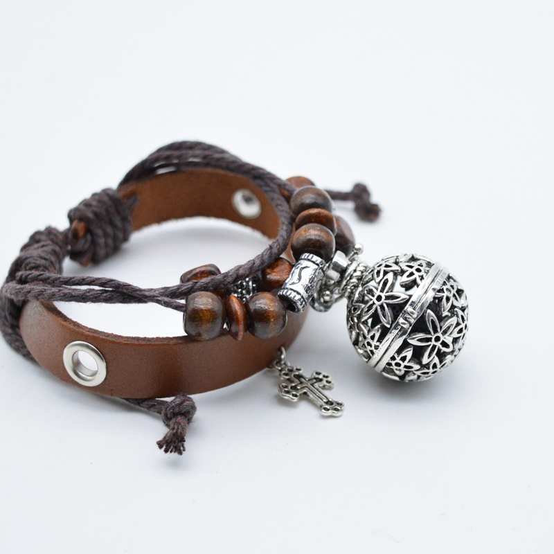 5pcs Charm Bracelet For Women Leather Perfume Bangle